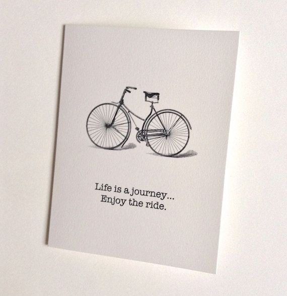 Life is a Journey Enjoy the Ride - Greeting Card by RittenhouseTrades