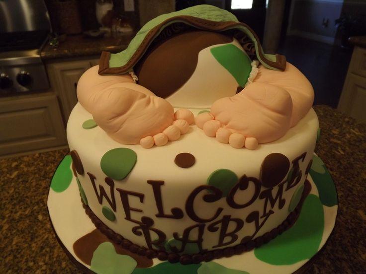 Camo baby rump cake