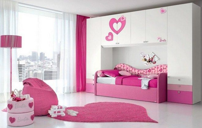 27+ Beautiful Girls Bedroom Ideas for Small Rooms (Teenage Bedroom Ideas) | Teenage and Girls Bedroom Ideas for Small Rooms | Girls Bedroom Multiple Color Walls Flower Design | Girls Bedroom Ideas with Canopy Bed and Desk