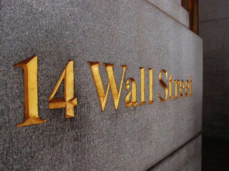 Wall Street ve městě New York, NY