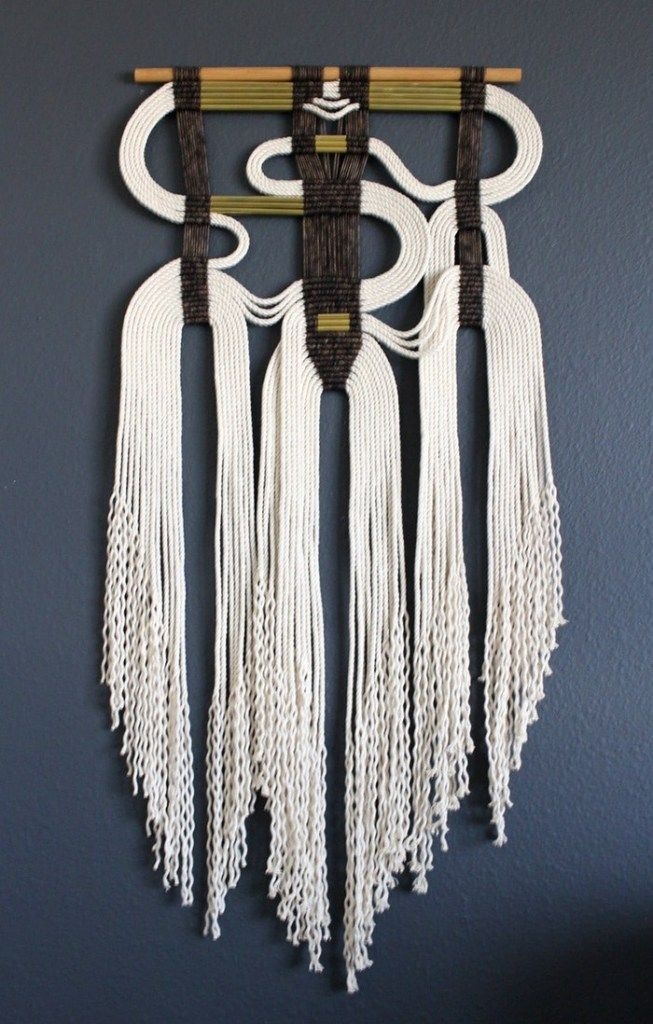 HIMO ART rope macrame wall hanging on The Fiber Studio.