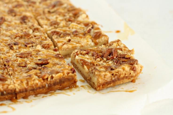 dinner or dessert: caramel pecan cheesecake cookie bars: Dinner, Pecan Cheesecake, Cookie Bars, Cheesecake Bars, Caramel Pecan, Sweet Tooth, Pecans, Dessert