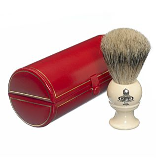 ManCave.co.nz: Kent BK2 Pure Badger Shaving Brush - Ivory   NZ$ 107,-     A medium sized pure grey badger bristle shaving brush from Kent of England, with the quality and craftsmanship that you would expect from what is possibly the world's oldest brush maker.    The brush is housed in a felt lined red presentation case with gold pin stripe detailing.    Pure Badger.  Made in the England  Faux ivory handle.  Handle height: 50mm.  Overall brush height: 102mm.