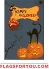 Happy Halloween Pumpkins US Made Garden Flag