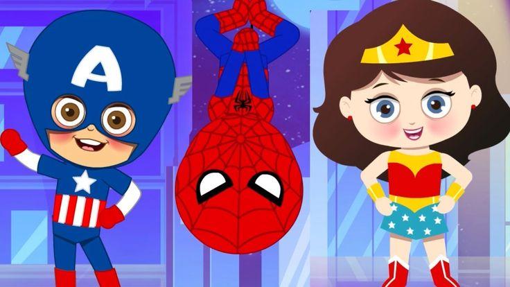 Superheroes Finger Family Song | Funny Superheroes | Nursery Rhymes and  Kids Song #nursery #rhymes #spiderman #hulk #kids #YouTube #kidsparty #childrenN