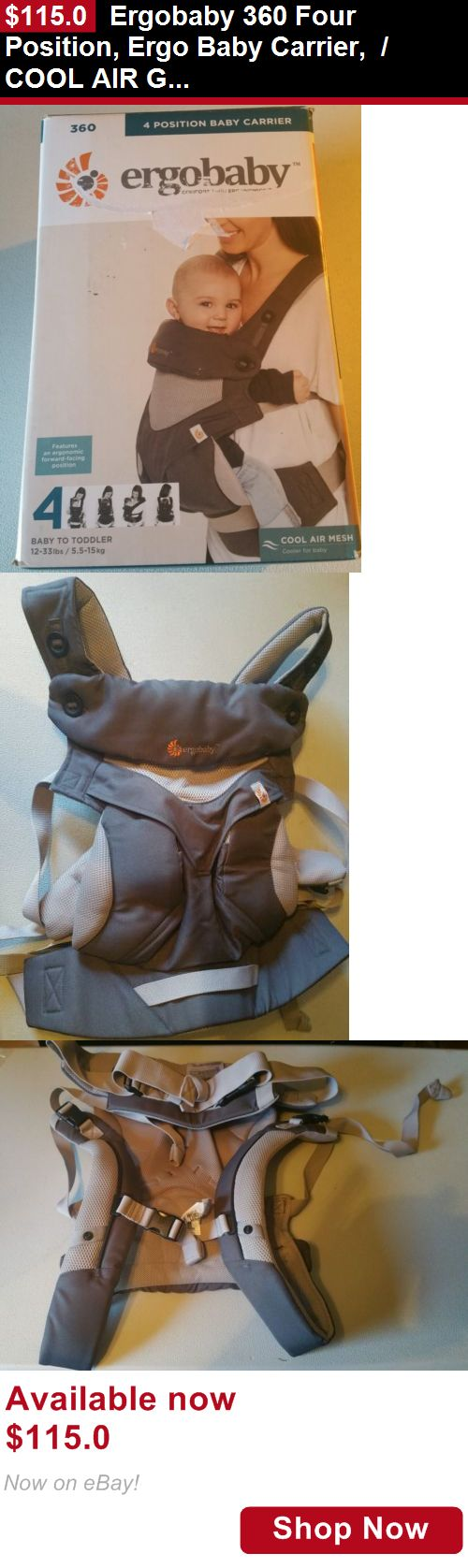 Baby Carriers and Slings and Backpacks: Ergobaby 360 Four Position, Ergo Baby Carrier, / Cool Air Grey BUY IT NOW ONLY: $115.0