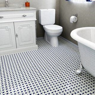 Shop for SomerTile 10.5x10.5-inch Victorian Basket Weave White and Cobalt Porcelain Mosaic Floor and Wall Til. Get free delivery at Overstock.com - Your Online Home Improvement Shop! Get 5% in rewards with Club O!