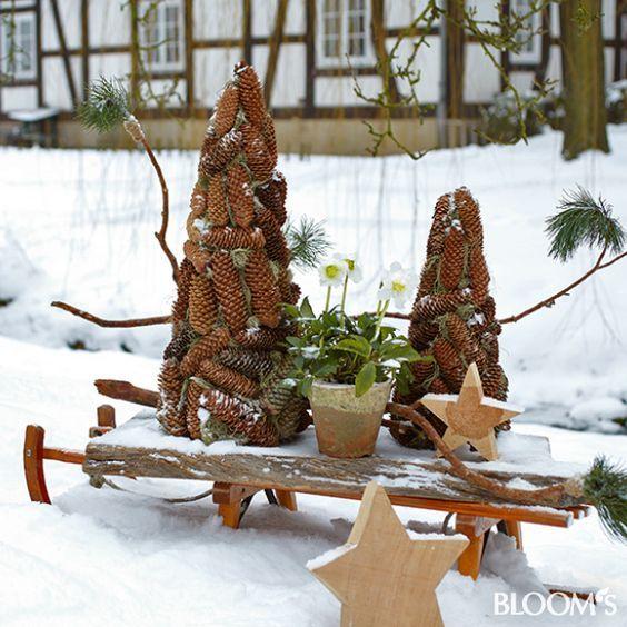 96 besten winterdeko bilder auf pinterest weihnachten schneemann und weihnachtsdekoration. Black Bedroom Furniture Sets. Home Design Ideas