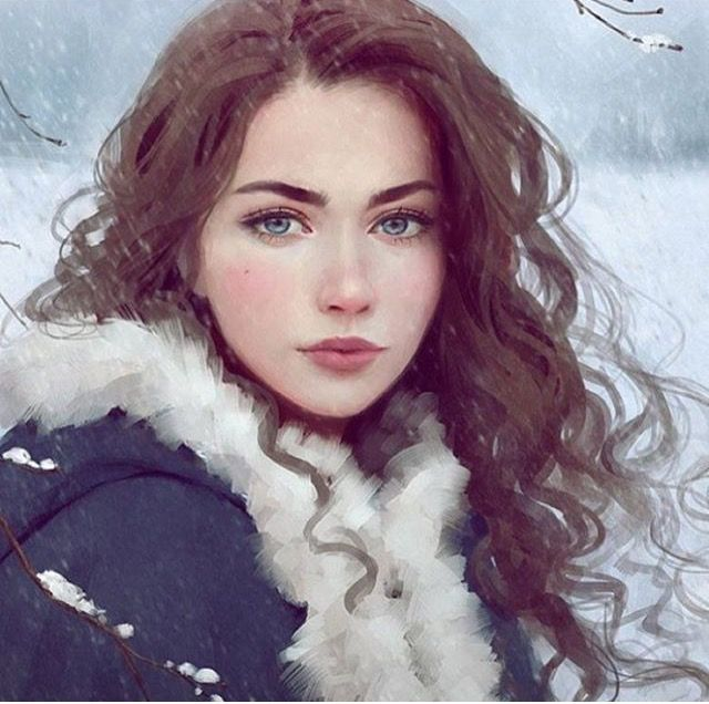 Feyre :O . Credit to artist. I love this because FEYRE ISN'T BLONDE guys.