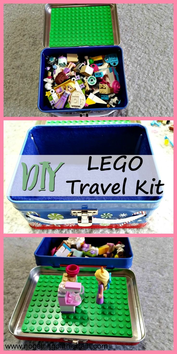 Need some road trip entertainment for kids? Make your own LEGO Travel Kit! It's cheap, fun, and easy to make. Would make a great DIY Christmas gift!