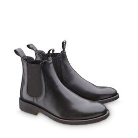 Flad støvlet m/elastik