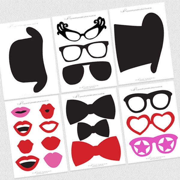 26 printable photo booth props