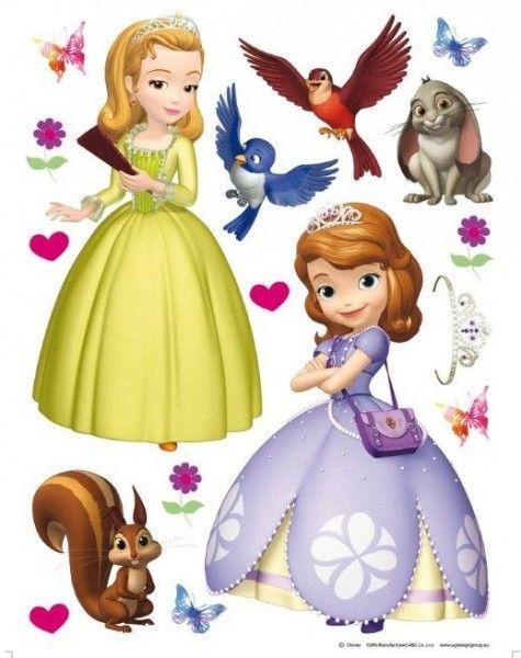 Disney Principessa Sofia Sticker Murali Giganti Cameretta Bambina, Adesivi Decorazioni per Pareti Disney 65x85 cm - TocTocShop.com