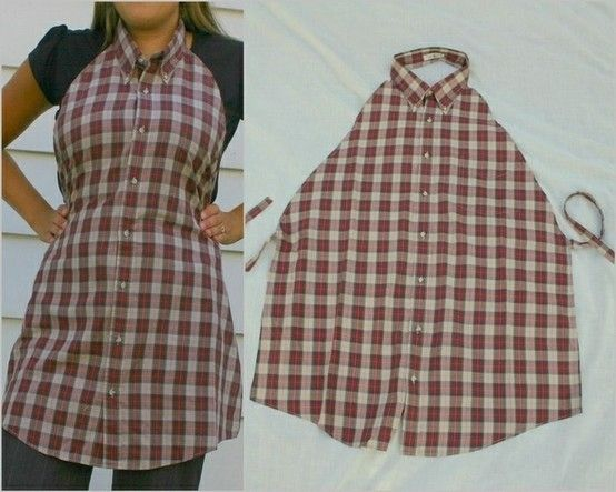 Apron...this is my next project. My hubby just cleaned out his closet so it's perfect timing!!