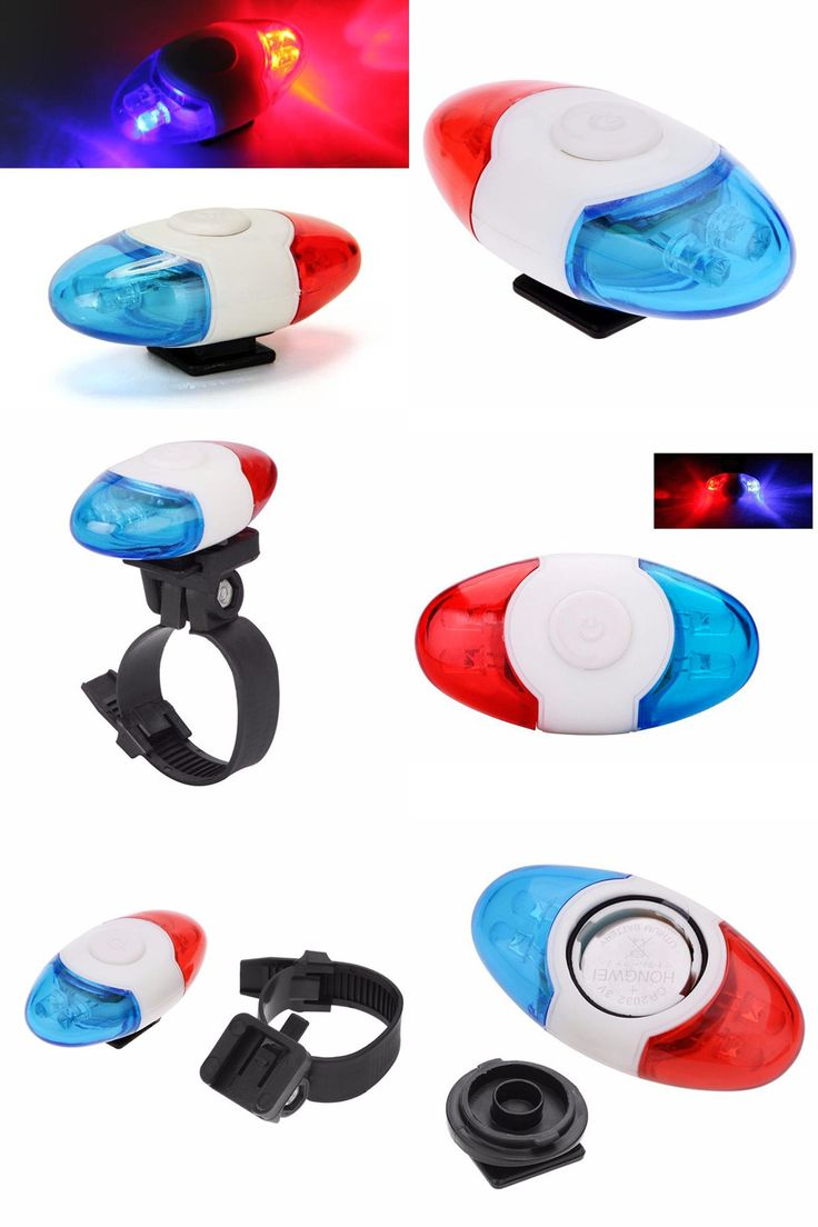 [Visit to Buy] Super Mini Waterproof Police Light 4 LED Red Blue 4 Flash Mode Bicycle Cycling Rear Light Safety Warning Tail Bike Light Lamp #Advertisement