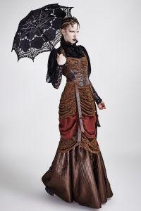Kleid mit Spitze und rückenfreiem Schnitt im Korsett-Look