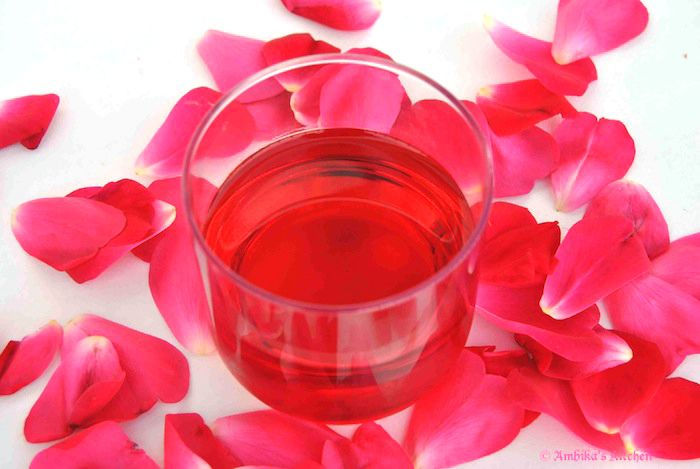 How to make rose syrup for use in rose milk (No dye for me)