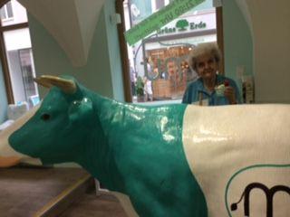 St Pölten, Austria - Mum in the funniest gelateria I've ever seen