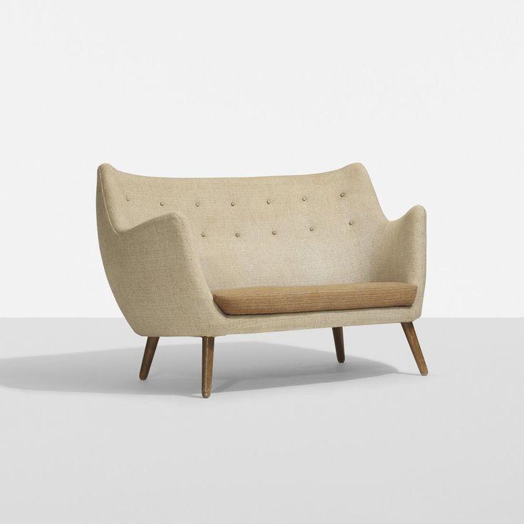 Lot: Finn Juhl Poet sofa, Lot Number: 0112, Starting Bid: $3,500, Auctioneer: Wright, Auction: Scandinavian Design, Date: November 5th, 2015 PST