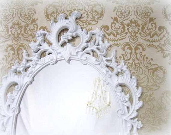 142 best decorative ornate antique vintage mirrors for for White framed mirrors for sale
