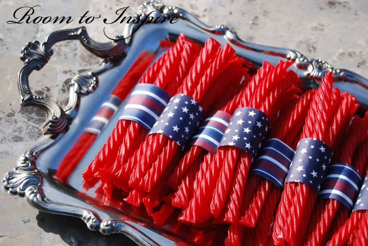 Cute idea for 4th of July party: July Parties, Fourth Of July, Cute Ideas, 4Th Of July, July 4Th, Parties Ideas, Parties Candy, Snacks Ideas, Great Ideas