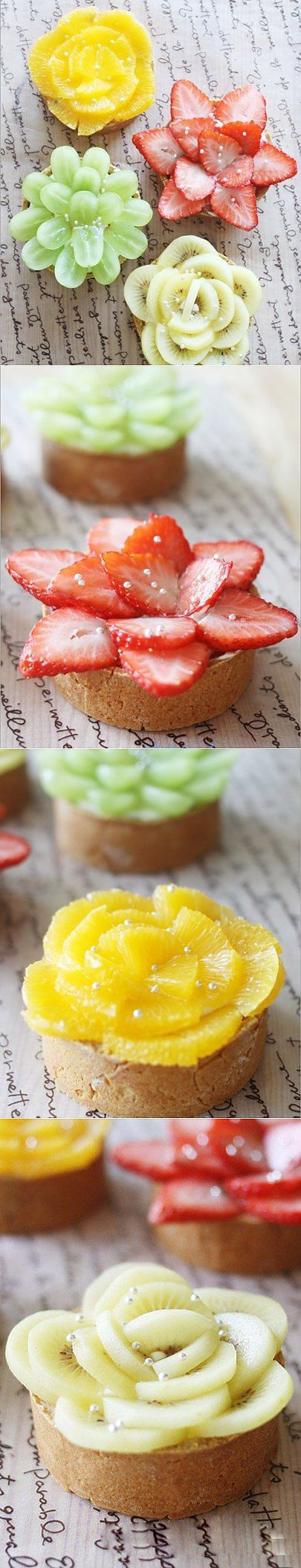 Fruit flower cakes