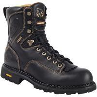 "Georgia Boot: Men's 8"" Comfort Core® Low-Heel Logger Work Boots –Style #G028"