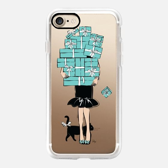 Tiffany's Blue boxes girl phone mobile case cover