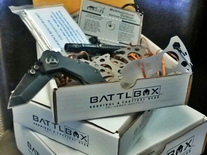 Battlbox.com monthly subscription edc, survival, and tactical gear men's subscription box