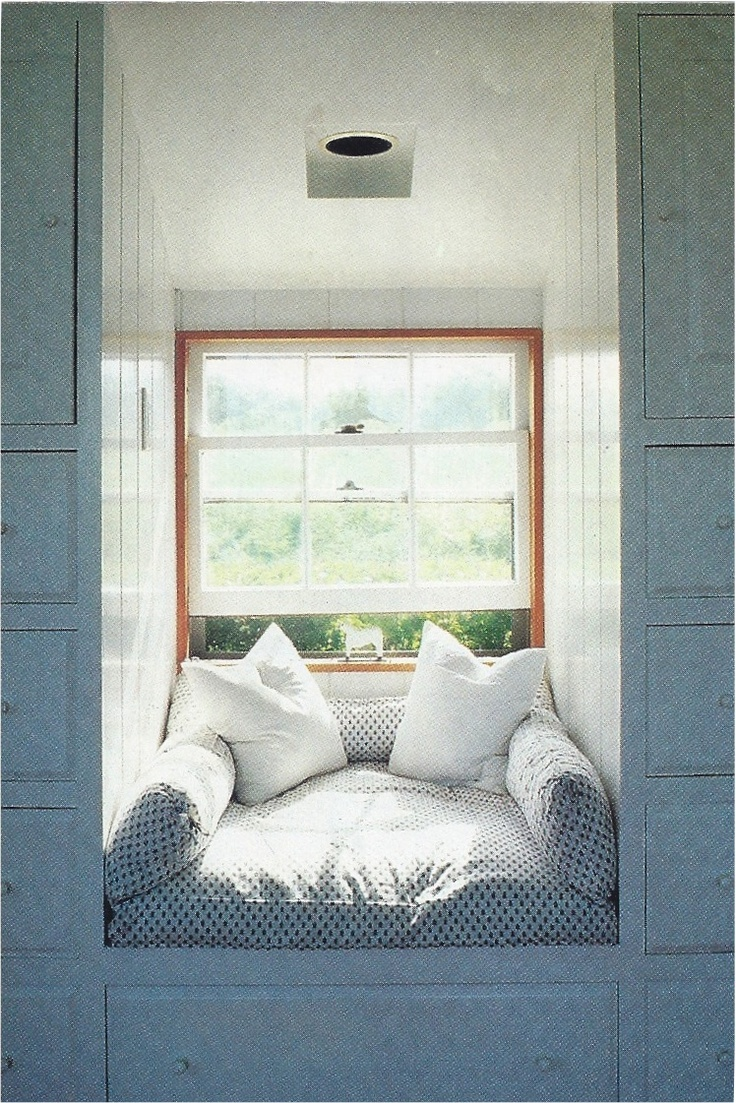 Squashy Pillows In Dormer Window Seat Love House And