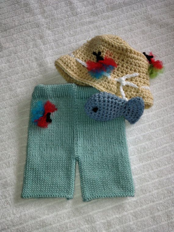 Baby boy fishing set outfit infant outfit newborn for Baby fishing hat