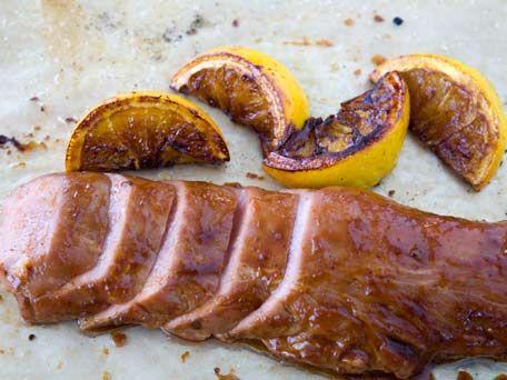 Roasted Pork Loin with Orange Chipotle Glaze Recipe - KitchenDaily
