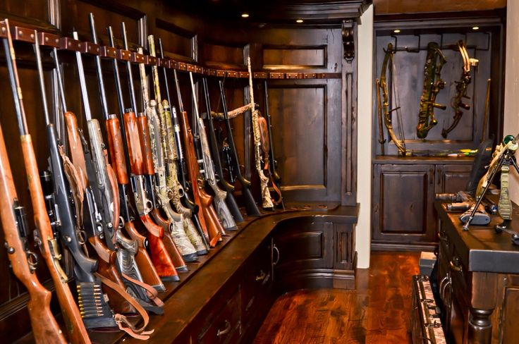 Gun room. I would love to have a room like this one.