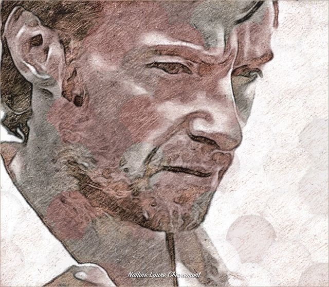 My Daily Drawings Sublimated Arts: Magnificent Hugh Jackman - portrait - Michael