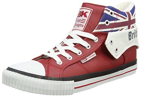 British Knights ROCO UNION JACK, Unisex-Erwachsene Hohe Sneakers, Rot (red multi 02), 43 EU