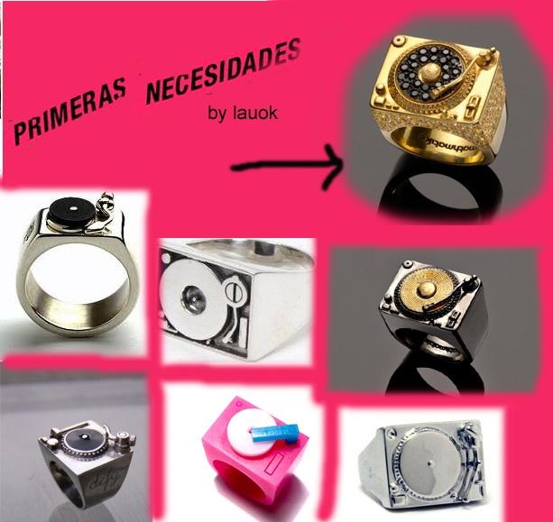 Desde hace un tiempo estoy teniendo fijación por los Turntable Rings. Hay miles de diseños y para todos los bolsillos.   En *primersnecesidades* nos quedamos con el anillo de Mathmatiks (http://shop.mathmatiks.com/ ) en Oro de 18k con diamantes negros y blancos.