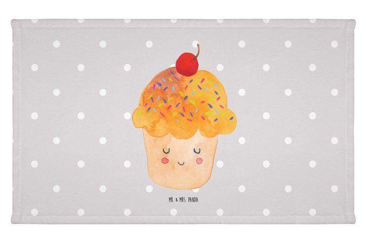 Gäste Handtuch Cupcake aus Kunstfaser  Natur - Das Original von Mr. & Mrs. Panda.  Das wunderschöne Gästehandtuch von Mr. & Mrs. Panda wird liebevoll von uns bedruckt und hat die Größe 30x50 cm.    Über unser Motiv Cupcake  Die Cupcake Zeichnung ist ein besonders niedliches Motiv aus der Mr. & Mrs. Panda Kollektion.    Verwendete Materialien  Die verwendete sehr hochwertige Kunstfaser ist langlebig, strapazierfähig und abwaschbar und wird von uns per Hand bedruckt. Es handelt sich um ein…