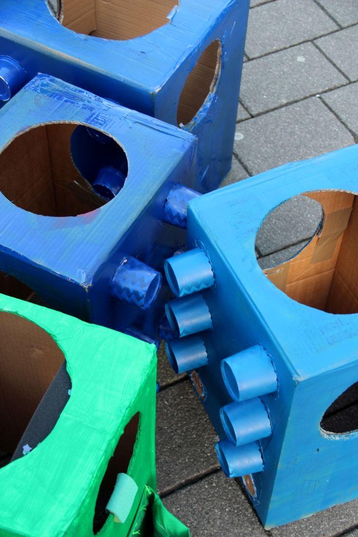 Lego Kostüm für Kinder selber machen - Kinderkarneval // costume for Kids DIY // von knobz