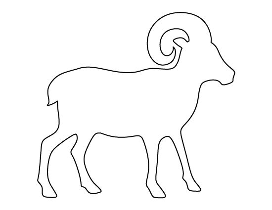 Ram Pattern. Use The Printable Outline For Crafts