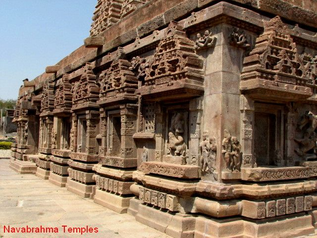 The Nava Bhramma temples were built by the Badami Chalukyas, who ruled for about 200 years from the middle of the sixth century onwards. The Badami Chalukyas built several temples in Karnataka, and the Alampur temples in Andhra Pradesh.The Alampur site preserves archeological remains in the form of temples exhibiting a hybrid style of architecture - dating back to the 6th-7th centuries CE. Some of the images from this site are also housed in a museum nearby.