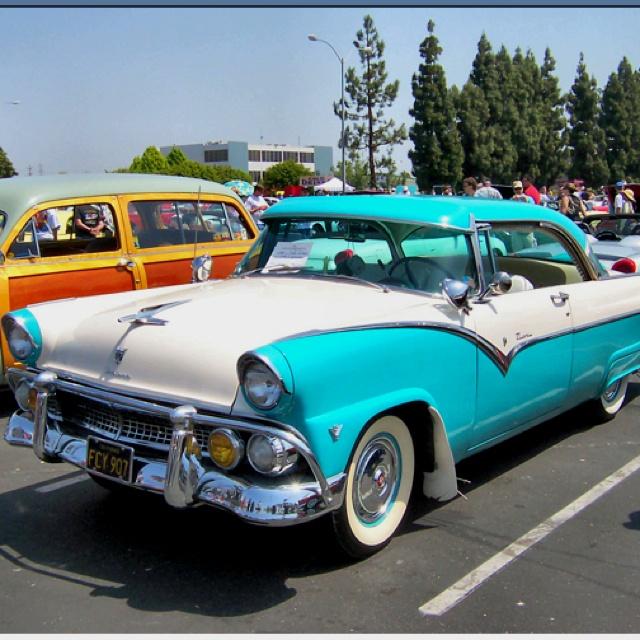 My Dream Car!!!! A 1955 Ford Fairlane In Robin Egg Blue