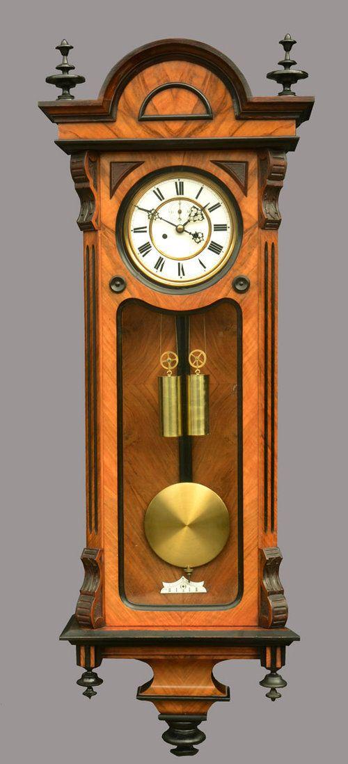Antiques Atlas - Walnut And Ebony Vienna Wall Clock