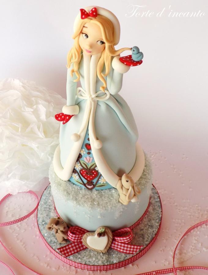 Winter Girl | Snow - Cake by Torte d'incanto