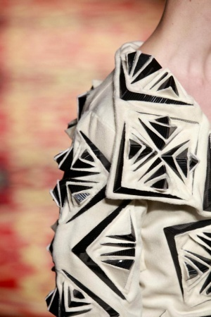 Innovative textiles design for fashion - structural fabric manipulation with an artful use of cut, fold & repetition to create 3D patterns & two tone textures // Iris van Herpen
