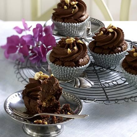 Erdnuss-Schoko-Cupcakes Rezept   LECKER