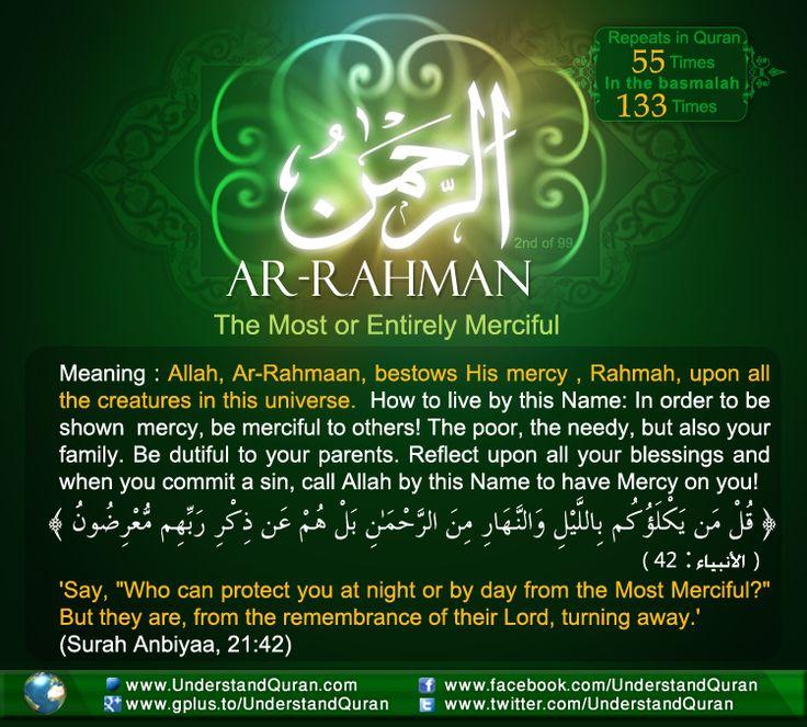 Name 2 Rahman The Answer is...Ar Rahmaan!