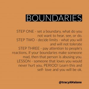 Boundaries Quotes - Narcissist Abuse Support @TracyAMalone #inspirational. #Narcissist #Abuse #Quotes Narcissistabusesupport.com