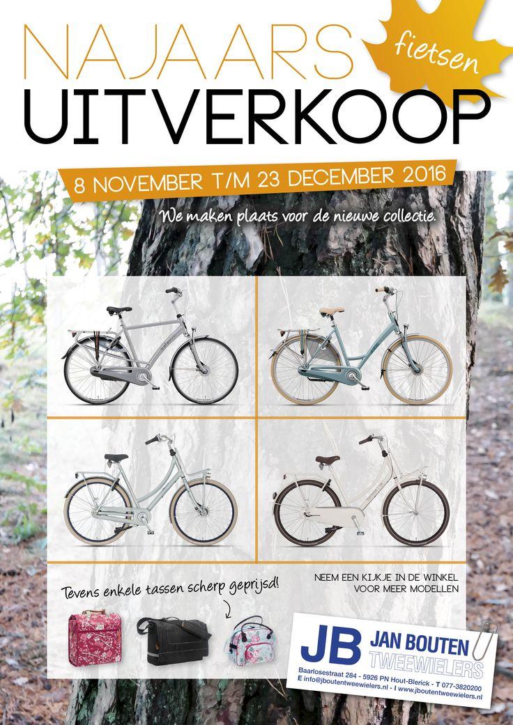 Flyer voor Bouten Tweewielers. Graphic design, poster, najaar, fall, fietsen, bike, ontwerp, grafisch, dtp.