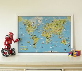 Kids Cartoon Map of the World from Maps International