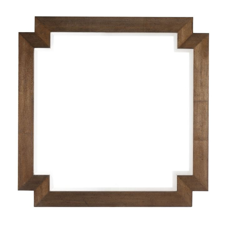 River Cabin Square Wooden Mirror - Max Sparrow